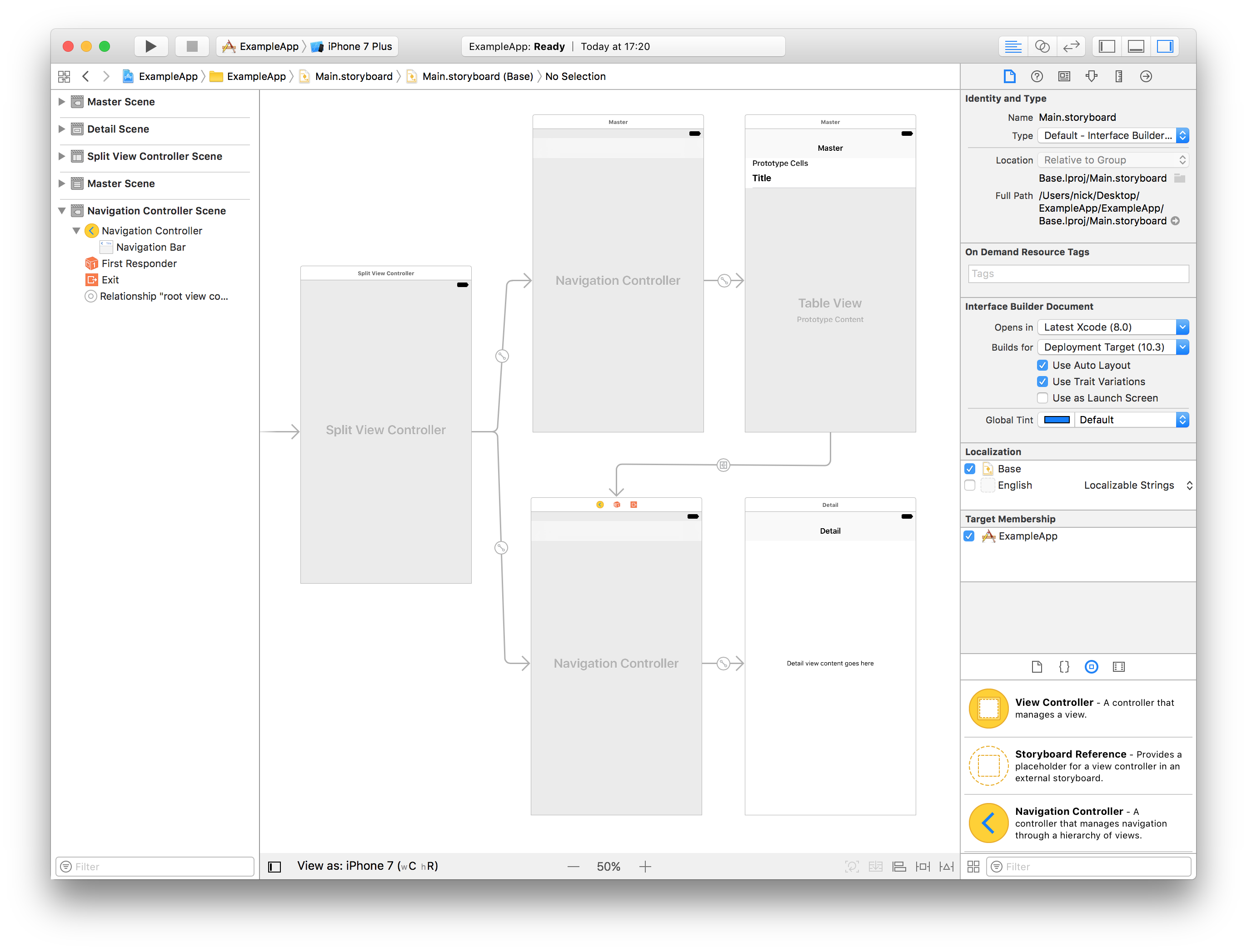 Apple's Interface Builder