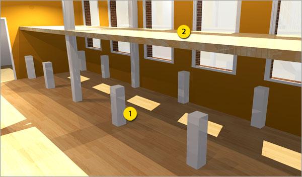 Make a loft or mezzanine using HomeByMe