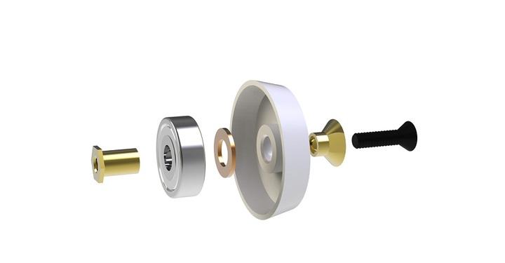 001186 kit per bracci take up con coperchiello in plastica