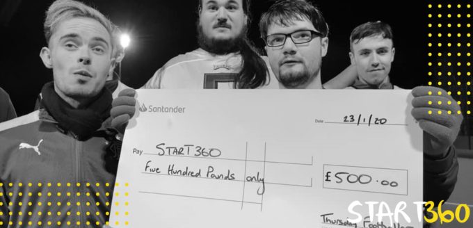 Donate Football Cheque