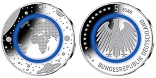Bund 5 Euro 2016 Planet Erde J Sofort Lieferbar Briefmarken