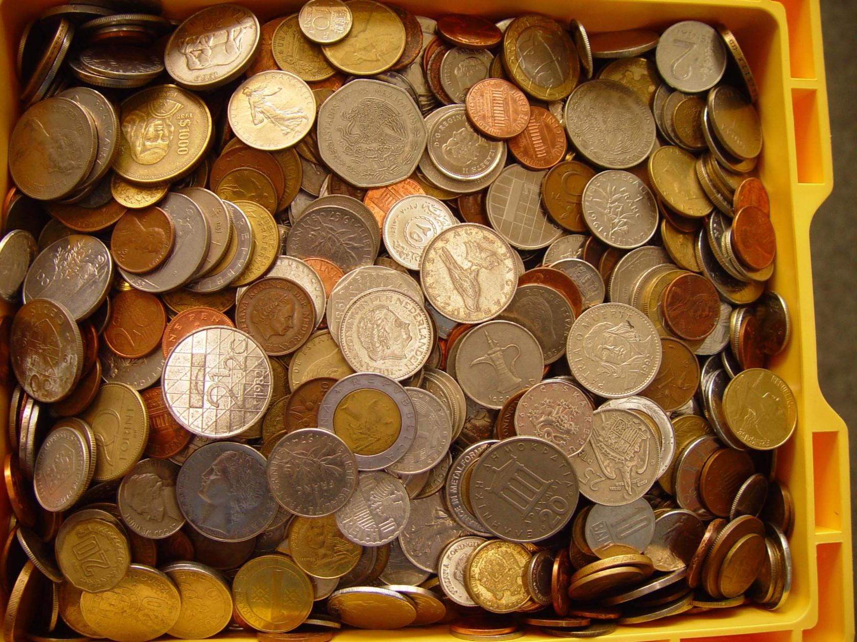 Münzen Kiloware Alle Welt 1 Kg Briefmarken Großheide Osnabrück