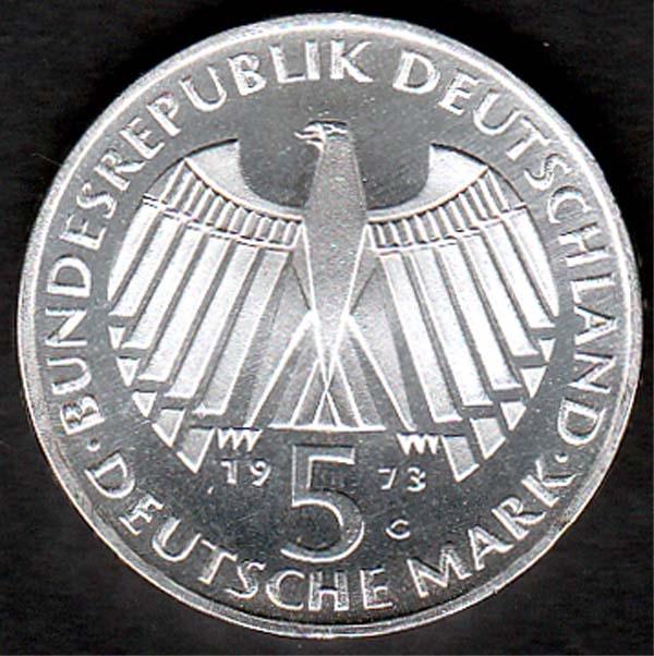 5 Dm Frankfurter Nationalversammlung 1973 Briefmarken Großheide
