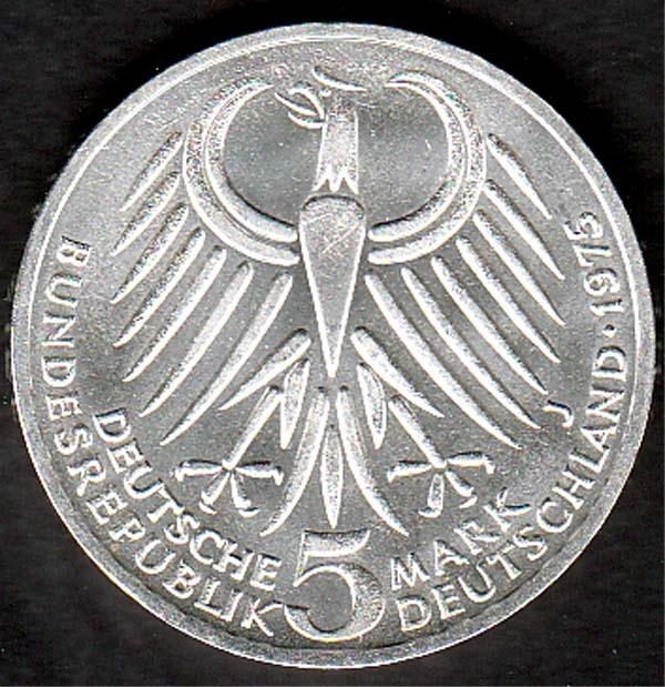 5 Dm Friedrich Ebert 1975 Briefmarken Großheide Osnabrück