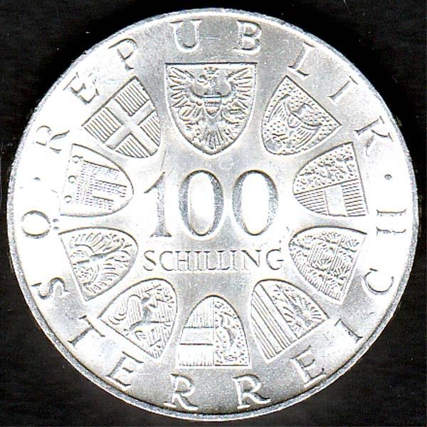 österreich 100 Schilling Johann Strauss 1975 Briefmarken Großheide