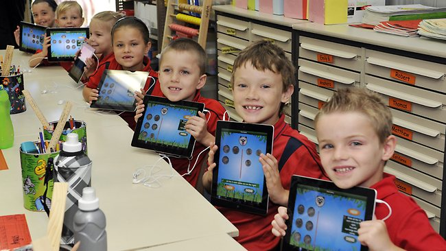 """ipads in schools A major reason for this shift away from ipads and towards chromebooks is because """"while school administrators generally like the ipad's touch screens for younger elementary school students, some said older students often needed laptops with built-in physical keyboards for writing and taking state assessment tests"""" (singer)."""