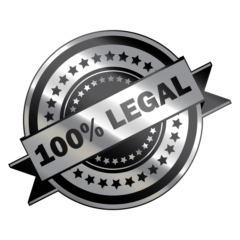 100% legal in Europe
