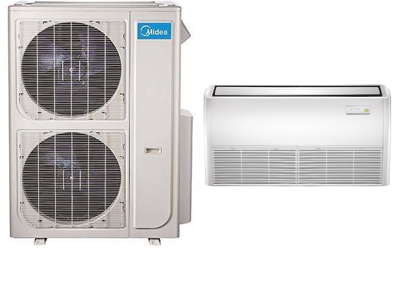 Midea 48000 Btu 18 Seer Universal Mount Mini Split Heat ...