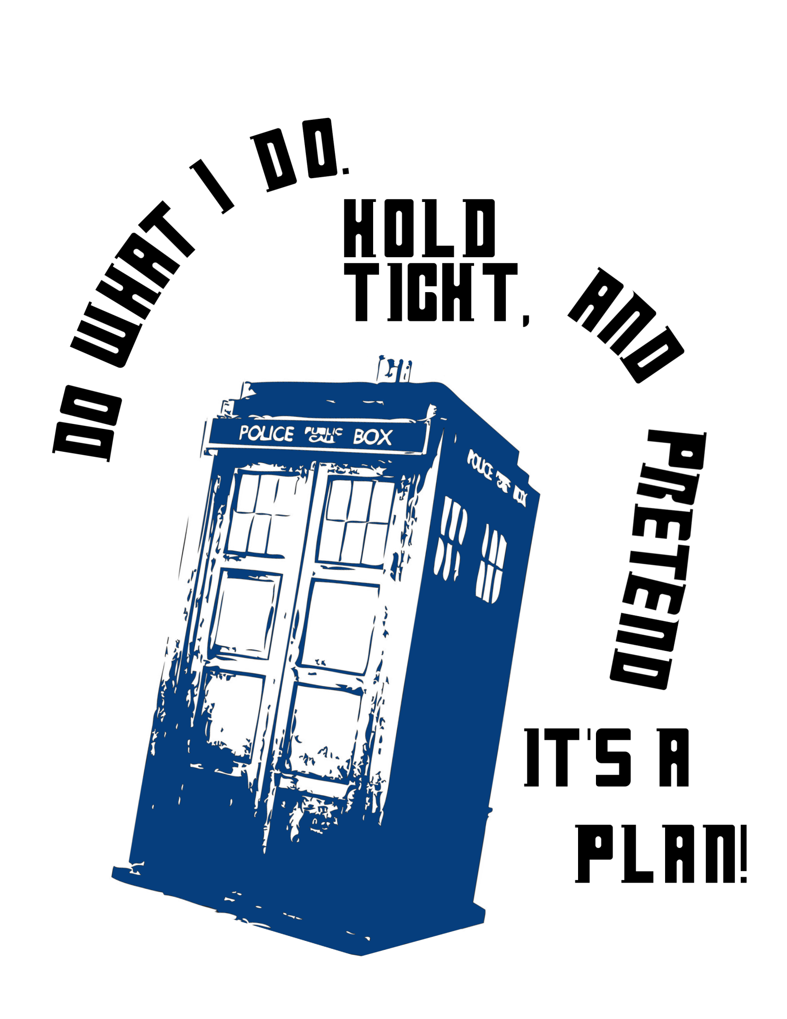 Do What I Do. Hold Tight, and Pretend It's A Plan! tee shirt design