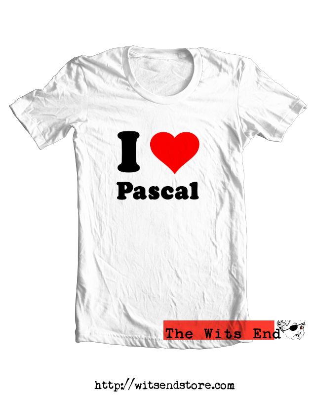 I Heart Pascal tee shirt example