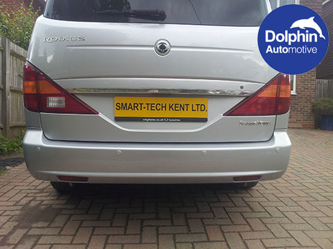 Saangyong with dolphin parking sensors installed in the bumpers
