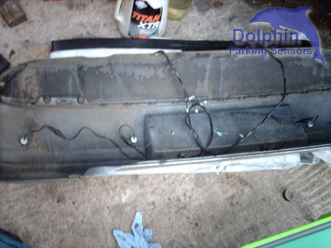 wires on the other side of the bumper