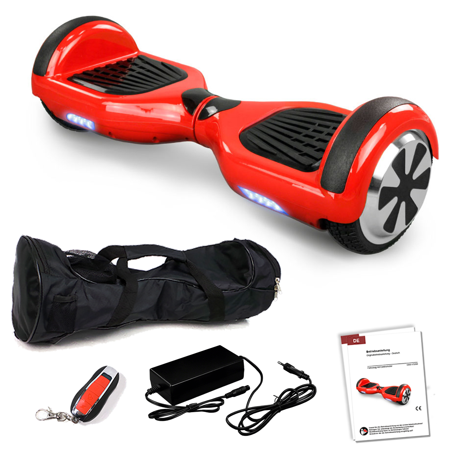 Bluetooth hoverboard red