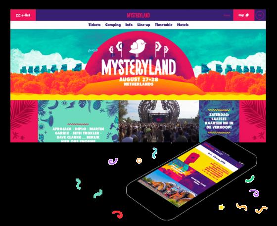Grrr maakte de website en app voor Mysterland bekijk hier de case met een uitgebreide omschrijving van ons werk voor Mysteryland