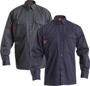 Frank arbejdsskjorte med 2 brystlommer