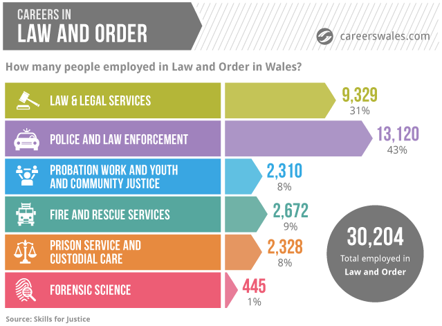 Careers in Law and Order Infographic