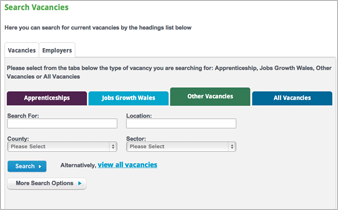 Search vacancies screen OA3