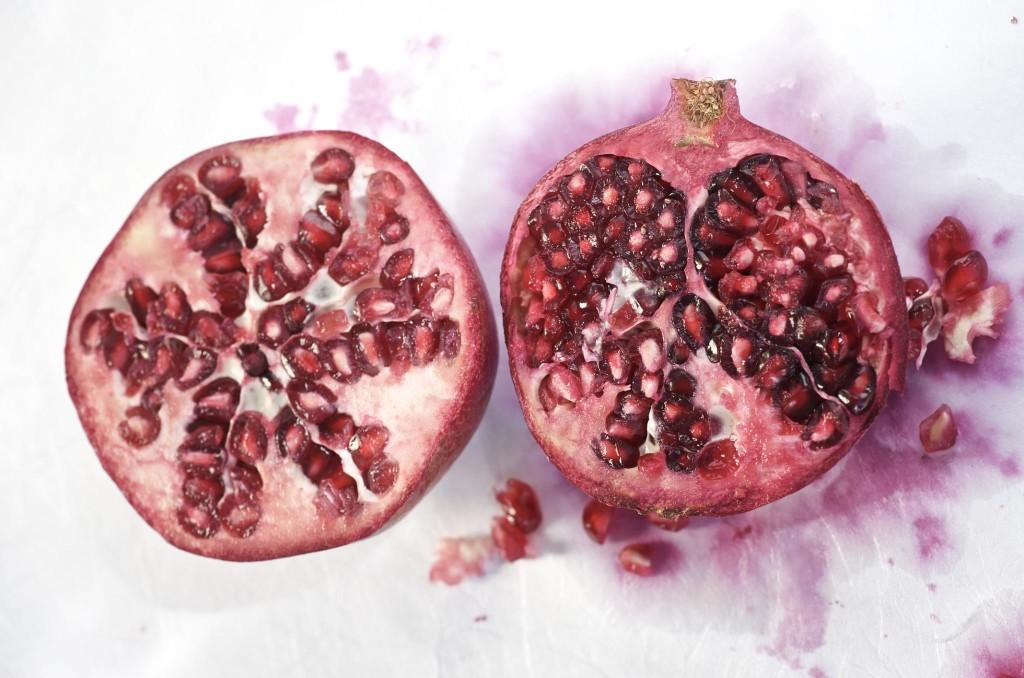 How many beans has a pomegranate?