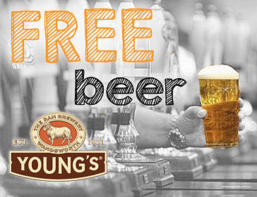 Young's Pubs Free Pint of Beer