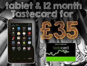 Tastecard and Tablet Deal