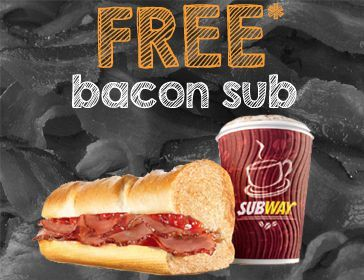 Free Bacon Subway