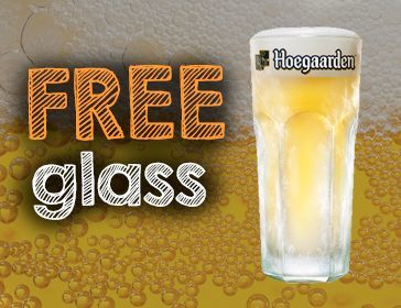 Free Glass Hoegaarden Offer