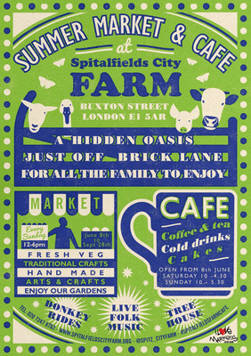 Summer Market & Cafe at Spitalfields City Farm