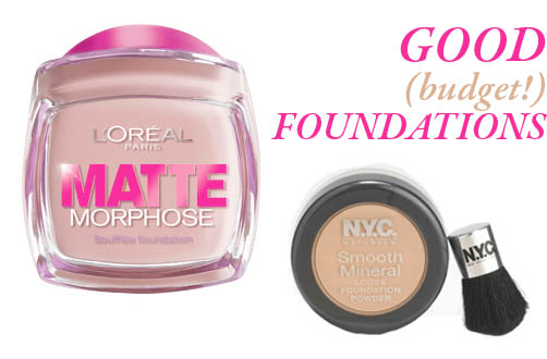 budget foundations from L'Oreal Paris and NYC
