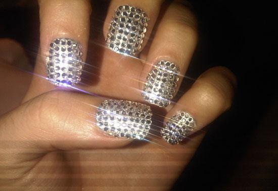 katy perry rhinestone nails