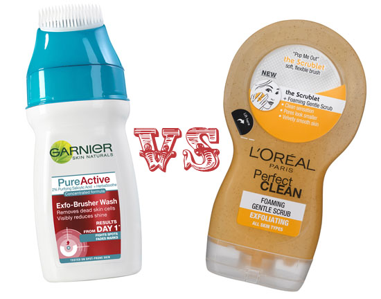 garnier and l'oreal paris scrubs