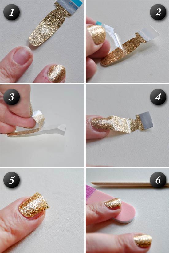 sally hansen nail strips application steps