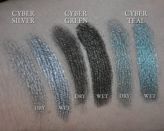 estee lauder pure colour cyber eyeshadow swatches