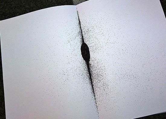 glitter on paper