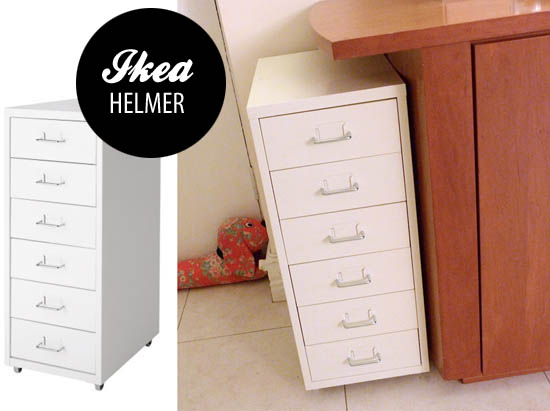 ikea helmer for makeup storage