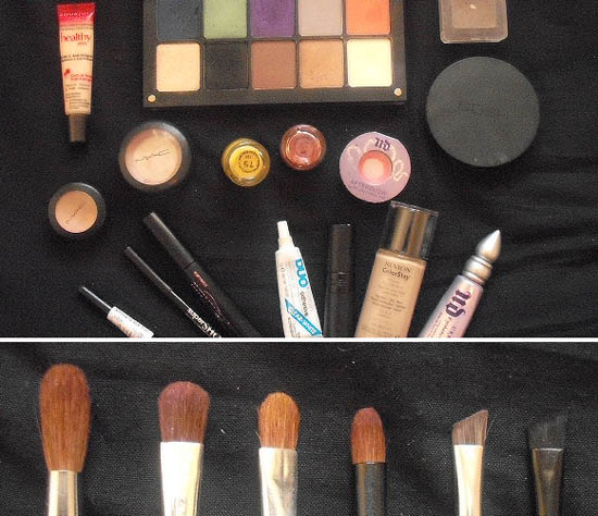 products and brushes used