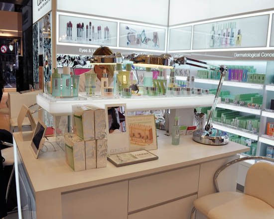clinique counter, brown thomas dublin