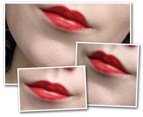 red lipstick