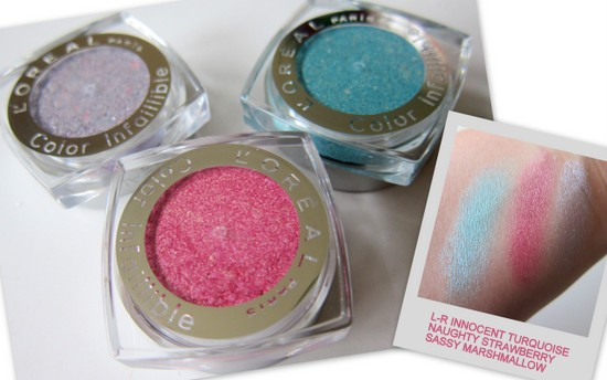 L'Oreal Miss Candy Collection Colour Infallible Eyeshadows