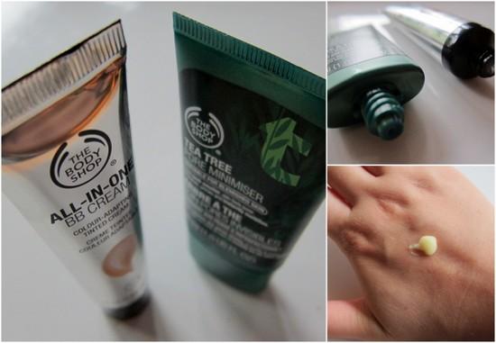 The Body Shop Tea Tree Pore Minimiser Swatches