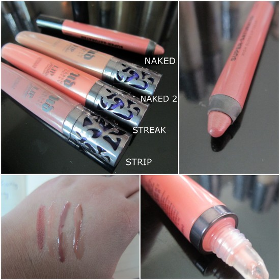 Urban Decay Lip Junkies and Super Saturated pencil Naked