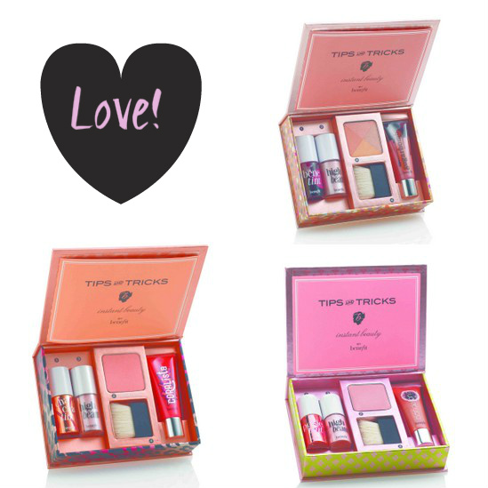 Benefit Instant Beauty Lip and Cheek kits