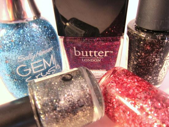 glitter nail polish christmas 2012