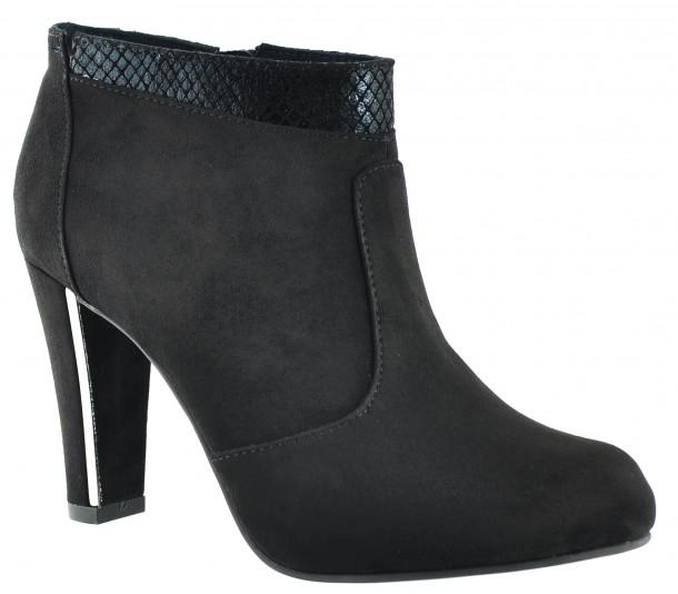 Tamaris - 25052-25 - Black Heel Ankle Boots (1)