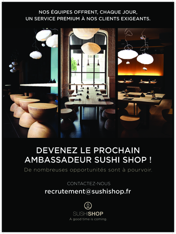 postes sushishop en boutique