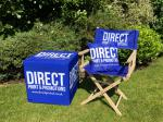 Cube & Directors Chair with Cushion