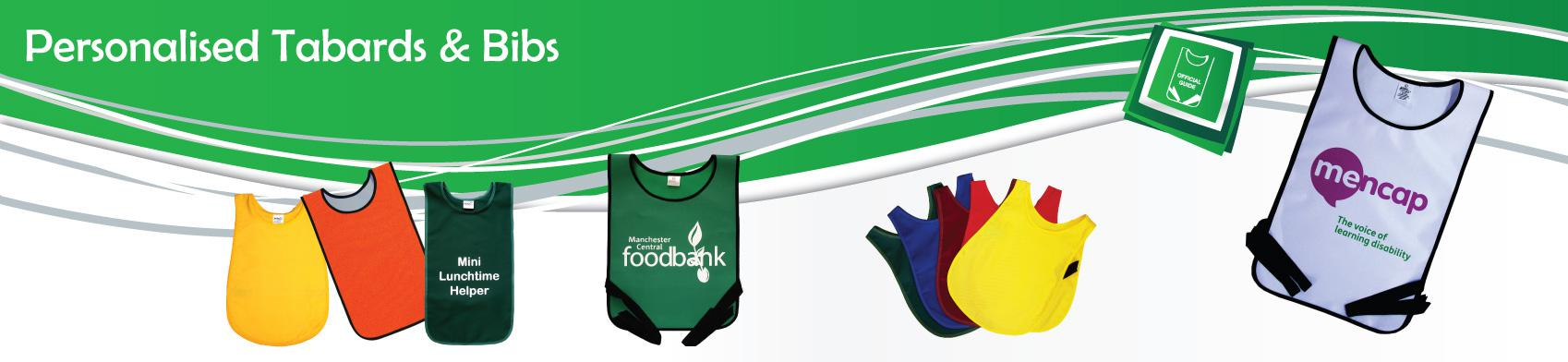 Personalisable Tabards and Bibs
