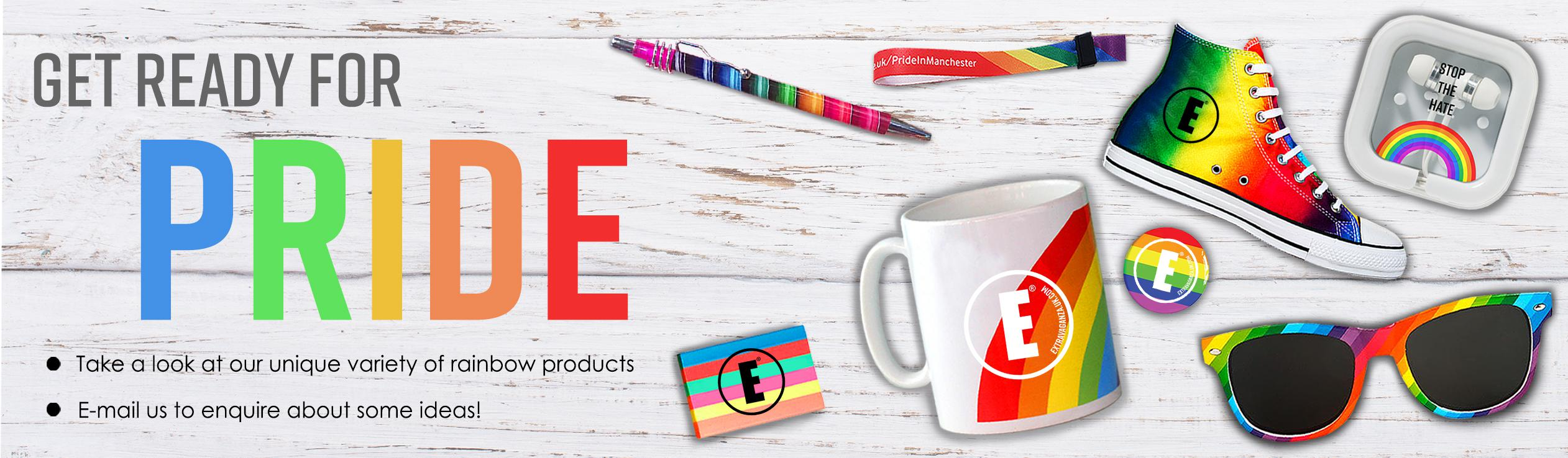 Printed UK Pride LGBT Rainbow Products