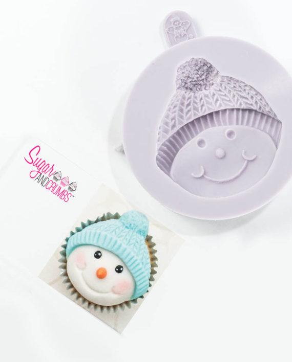 Karen Davies Snowman Bobble Cupcake Silicone Mould