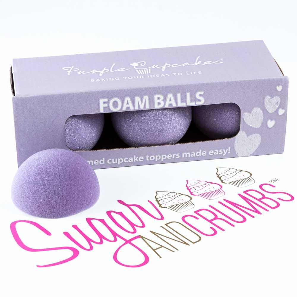 Foam Balls - Purple Cupcakes
