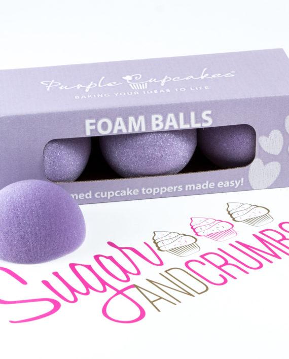 Foam Balls Purple Cupcakes Sugar And Crumbs